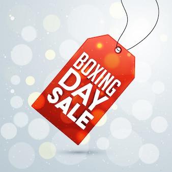 Giorno di inscatolamento, vendita di tag design.