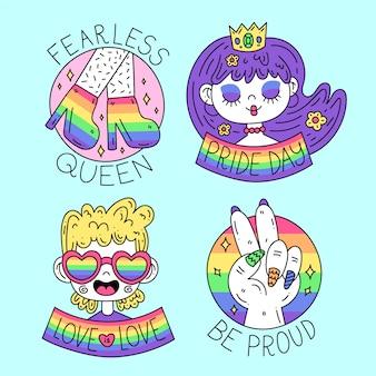 Giorno di orgoglio delle etichette e dei distintivi