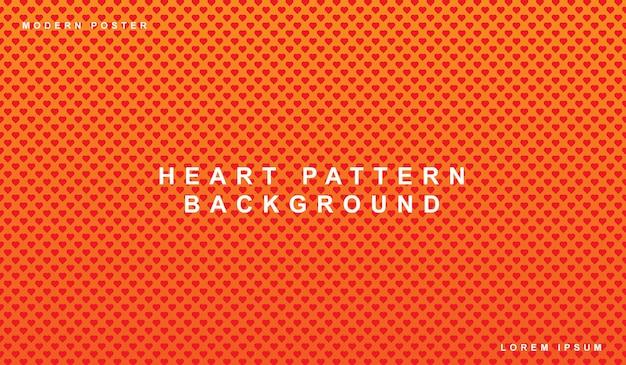 Giorno di s. valentino senza cuciture del fondo del modello del cuore