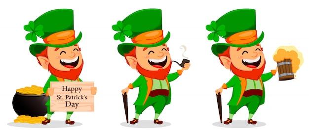 Giorno di san patrizio. personaggio dei cartoni animati leprechaun