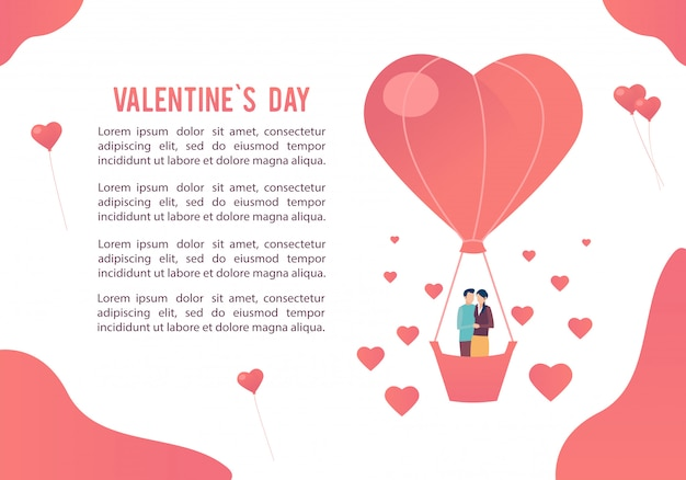 Giorno di san valentino. immagine delle persone innamorate