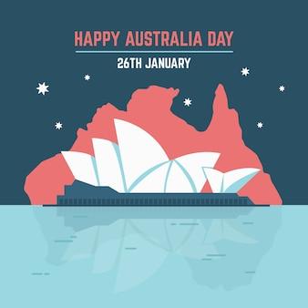 Giorno felice dell'australia del teatro dell'opera di sydney