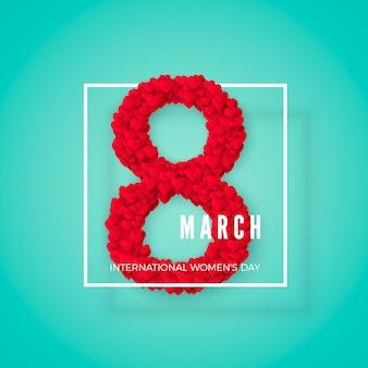 Giorno internazionale delle donne. cartolina d'auguri. concetto di banner del sito web. illustrazione