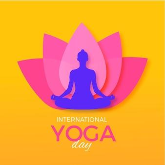 Giorno internazionale di progettazione dell'illustrazione di yoga