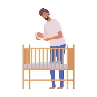 Giovane con neonato