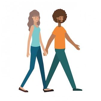 Giovane coppia avatar personaggio