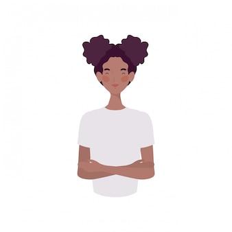 Giovane donna su bianco