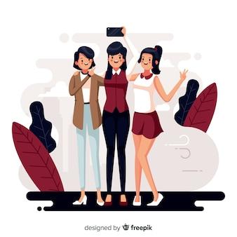 Giovane donna trascorrere del tempo insieme