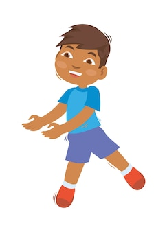 Giovane ragazzo africano che fa un ballo