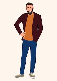 Giovane uomo con la barba