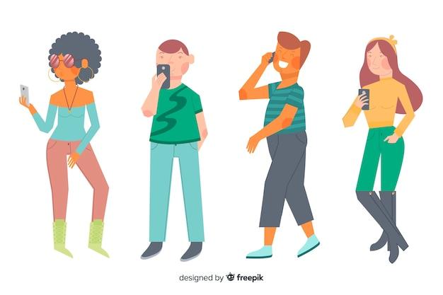 Giovani in possesso di smartphone
