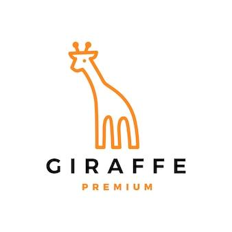 Giraffa icona logo illustrazione