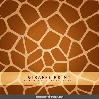 Giraffa stampa di fondo