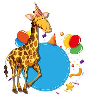 Giraffa sul bordo paty