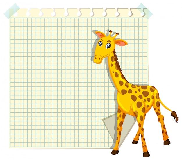 Giraffa sul modello di nota