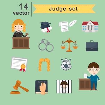 Giudice set vettoriale
