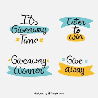 Giveaway lettering collezione per contest