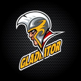 Gladiator head dal lato. può essere utilizzato per il logo del club o della squadra.