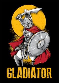 Gladiator knight warrior illustration