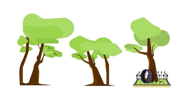 Gli alberi hanno isolato l'illustrazione di vettore