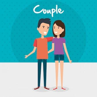 Gli amanti accoppiano personaggi di avatar