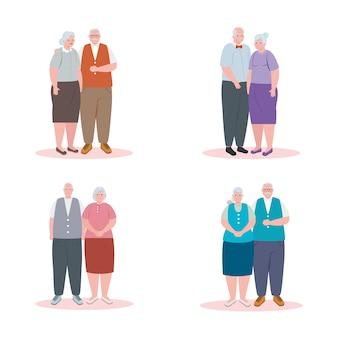 Gli anziani svegli, il gruppo di nonne e i nonni progettano l'illustrazione