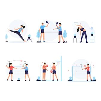 Gli atleti si esercitano ogni mattina per mantenere un corpo sano