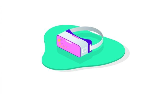 Gli occhiali virtuali vector icona piatta