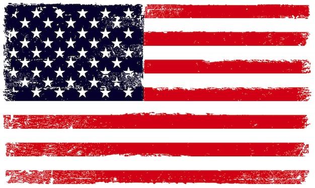 Gli stati uniti d'america bandiera in stile grunge