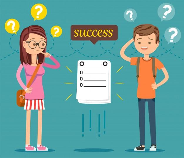 Gli studenti stanno mettendo in discussione il processo per avere successo