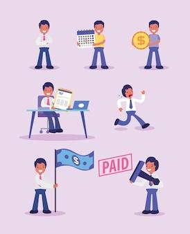 Gli uomini d'affari e la raccolta dei giorni di imposta