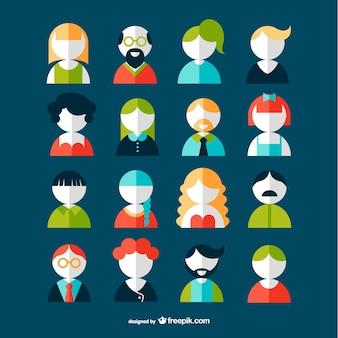 Gli utenti avatar set