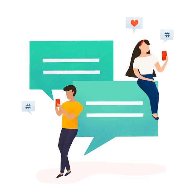 Gli utenti con il vettore di bolle di discorso
