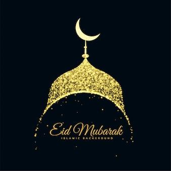 Glitter mosque eid mubarak sfondo