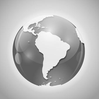 Globo con illustrazione vettoriale di posta