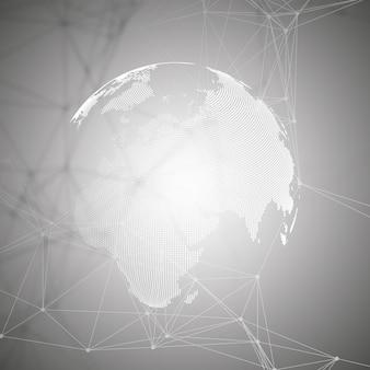 Globo del mondo su sfondo grigio