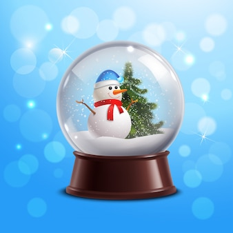 Globo di neve con pupazzo di neve