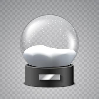 Globo di neve di natale. palla di vetro.