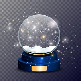 Globo di neve di natale. sfera di vetro