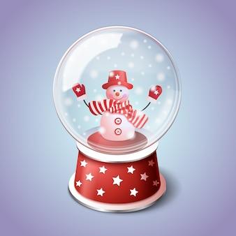 Globo realistico palla di neve di natale