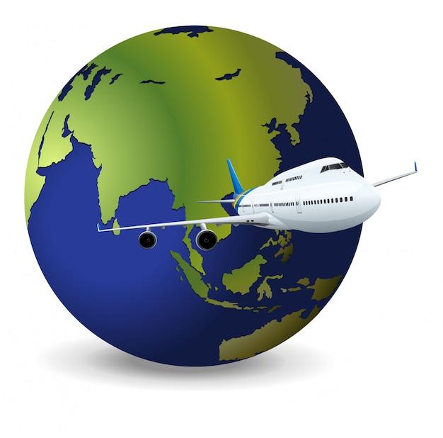 Globo terrestre e aereo