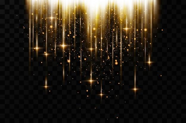 Glowing glitter effetti di luce sullo sfondo