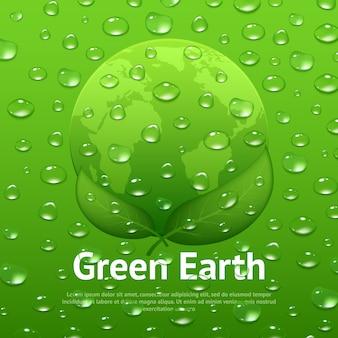 Gocce d'acqua eco poster
