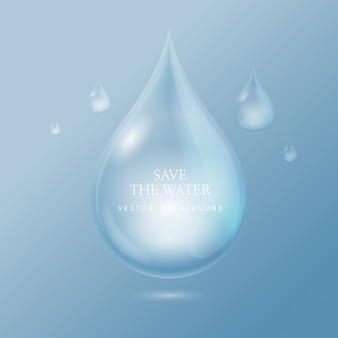 Gocce d'acqua trasparenti, goccia d'acqua