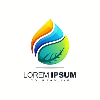 Goccia d'acqua impressionante logo design vettoriale