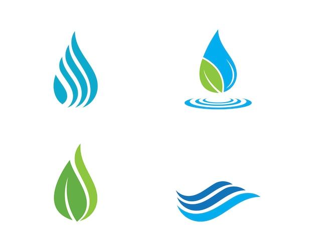 Goccia d'acqua logo modello