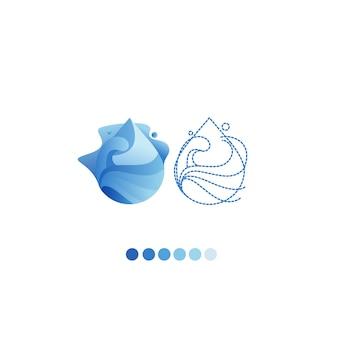 Goccia d'acqua logo vettoriale modello di progettazione.