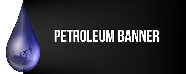 Goccia di petrolio, gocciolina, benzina grezza, pompa dell'olio.