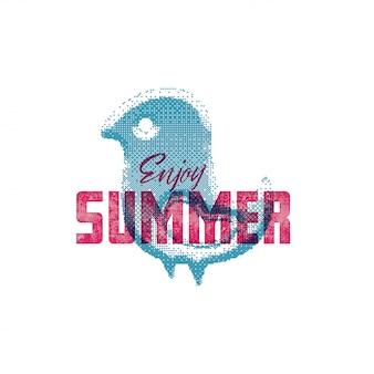 Godetevi l'estate retro segno