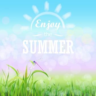 Goditi il poster floreale estivo